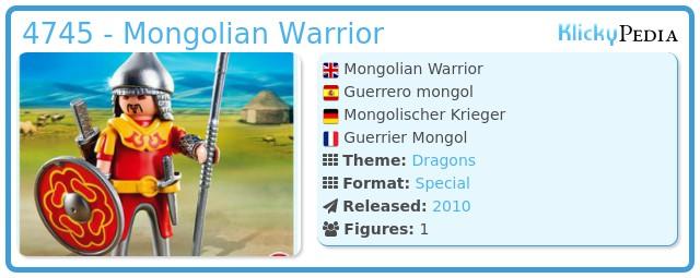 Playmobil 4745 - Mongolian Warrior
