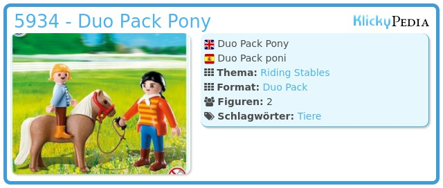Playmobil 5934 - Duo Pack Pony