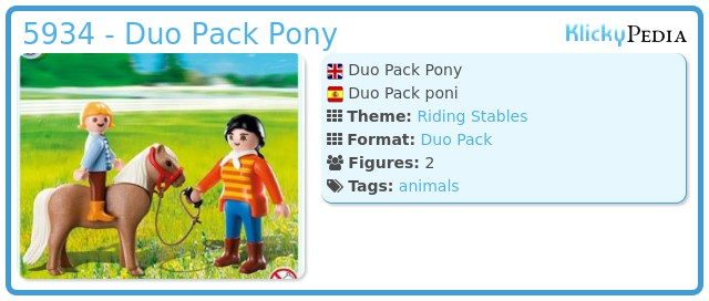 Playmobil 5934 - Duo Pack Pony