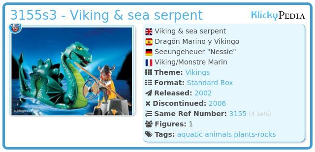 Playmobil 3155s3 - Viking & sea serpent
