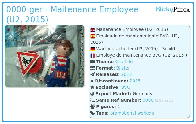 Playmobil 0000-ger - Maitenance Employee (U2, 2015)