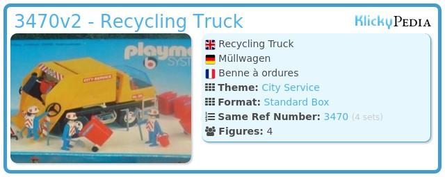 Playmobil 3470v2 - Recycling Truck