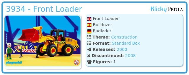 Playmobil 3934 - Front Loader