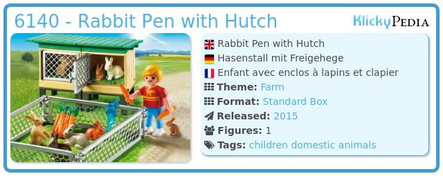 Playmobil 6140 - Rabbit Pen with Hutch