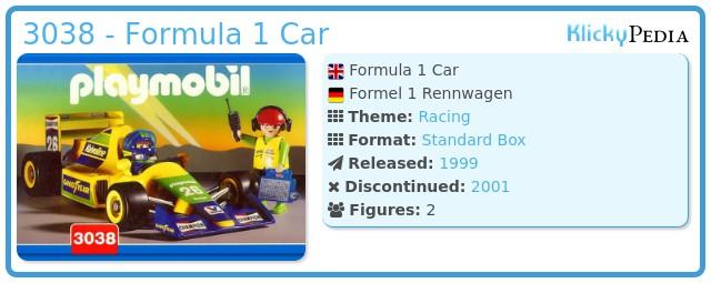 Playmobil 3038 - Formula 1 Car