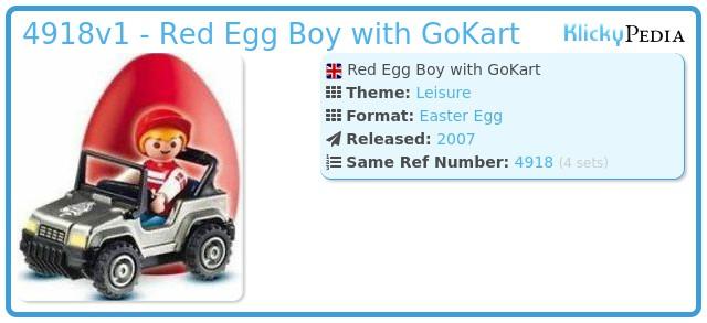 Playmobil 4918v1 - Red Egg Boy with GoKart