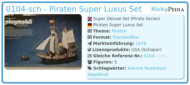 Playmobil 0104-sch - Piraten Super Luxus Set