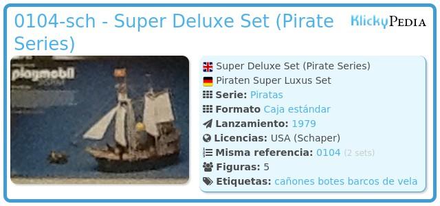 Playmobil 0104-sch - Super Deluxe Set (Pirate Series)