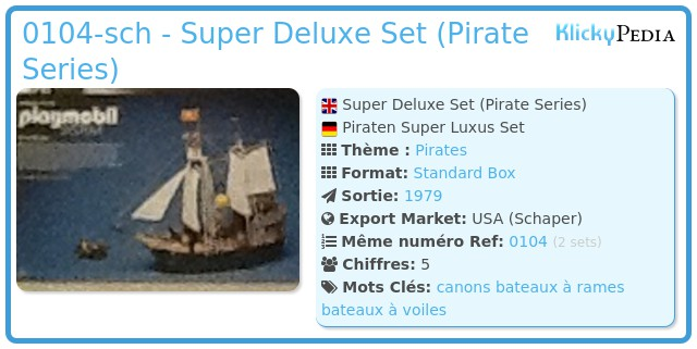 Playmobil 0104-sch - Super Deluxe Set (Pirate Series)