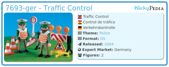 Playmobil 7693-ger - Traffic Control
