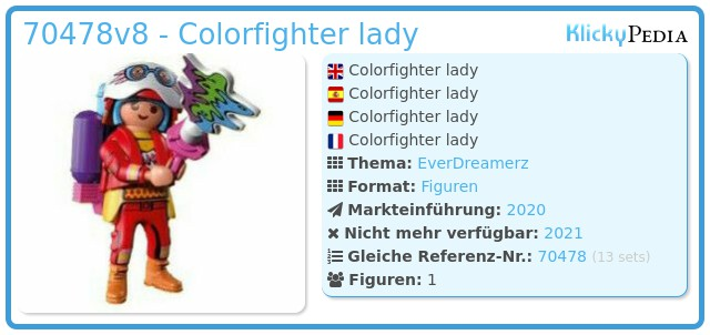 Playmobil 70478-08 - Colorfighter lady