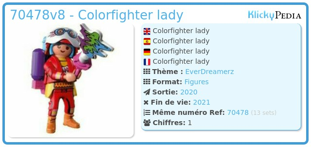 Playmobil 70478-08 - Colorfighter lady