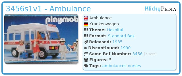 Playmobil 3456s1v1 - Ambulance