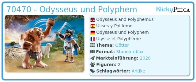 Playmobil 70470 - Odysseus und Polyphem