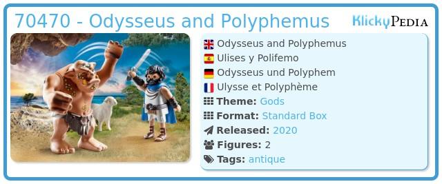 Playmobil 70470 - Odysseus and Polyphemus