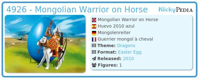 Playmobil 4926 - Mongolian Warrior on Horse