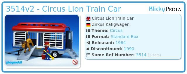 Playmobil 3514v2 - Circus Lion Train Car