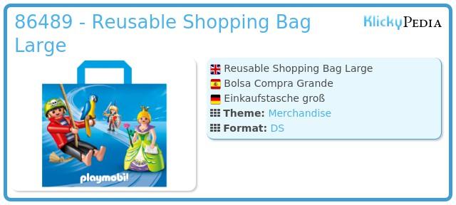 Playmobil 86489 - Reusable Shopping Bag Large
