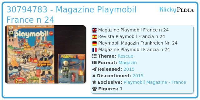 Playmobil 30794783 - Magazine Playmobil France n 24