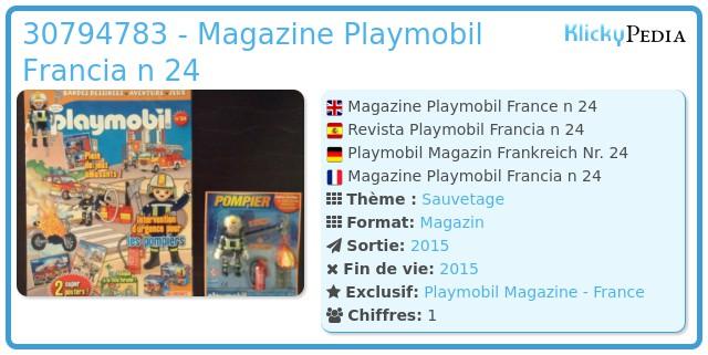 Playmobil 30794783 - Magazine Playmobil Francia n 24