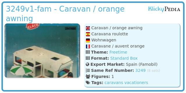 Playmobil 3249v1-fam - Caravan / orange awning