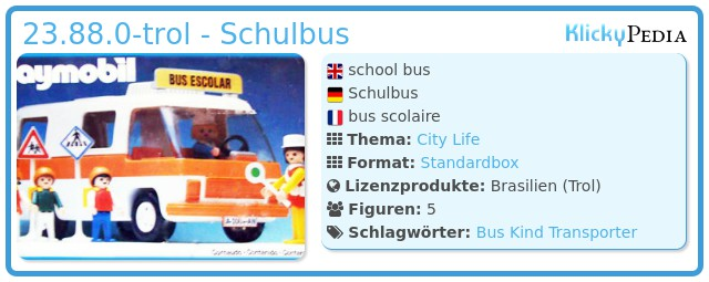 Playmobil 23.88.0-trol - Schulbus
