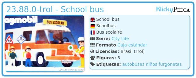 Playmobil 23.88.0-trol - school bus