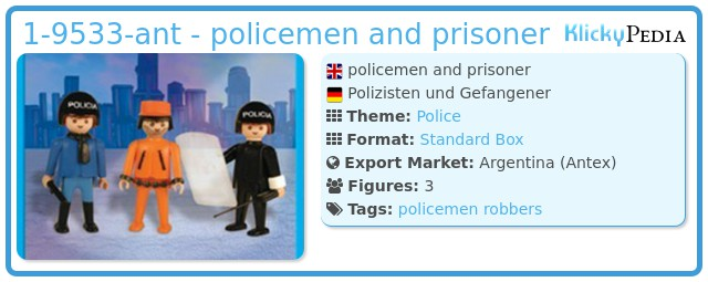 Playmobil 1-9533-ant - policemen and prisoner