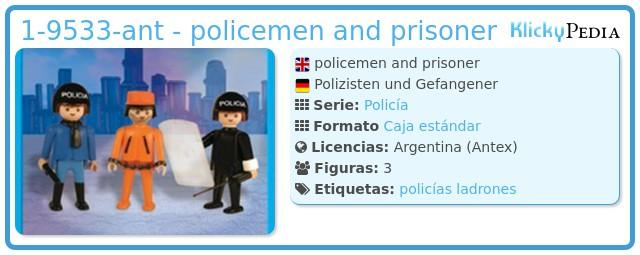 Playmobil 1-9533-ant - policemen and prisoner