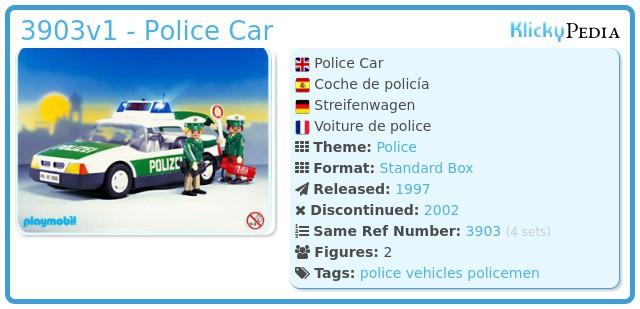 Playmobil 3903v1 - Police Car