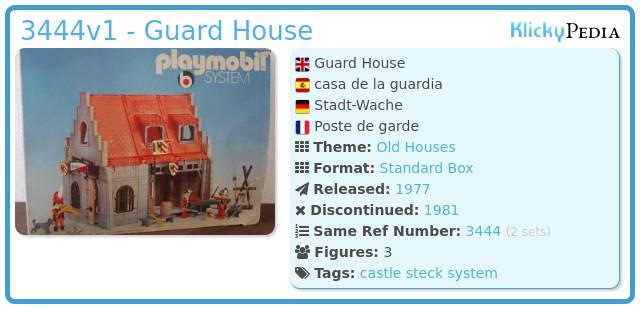 Playmobil 3444v1 - Guard Room