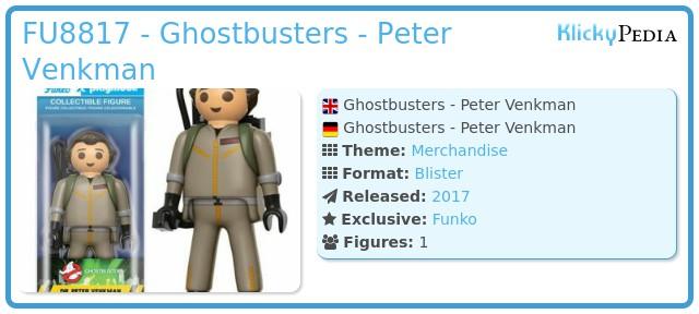 Playmobil FU8817 - Ghostbusters - Peter Venkman