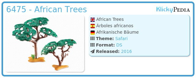 Playmobil 6475 - African Trees