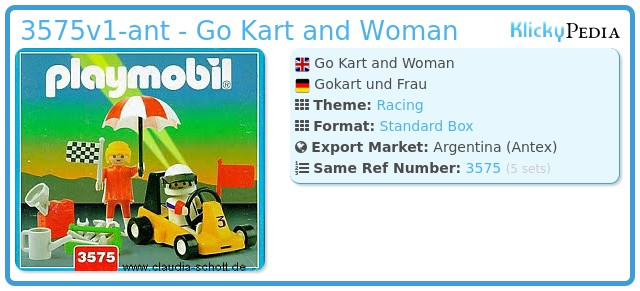 Playmobil 3575v1-ant - Go Kart and Woman