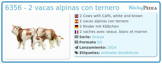 Playmobil 6356 - 2 vacas alpinas con ternero