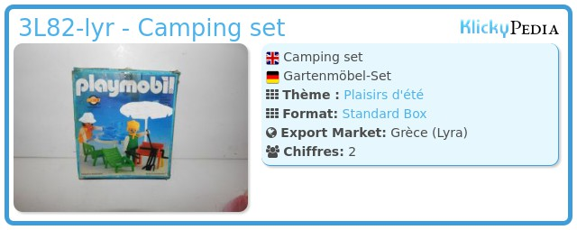Playmobil 3L82-lyr - Camping set