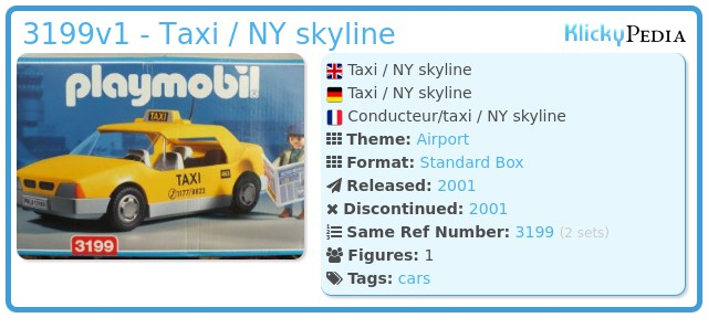 Playmobil 3199v1 - Taxi /  NY skyline