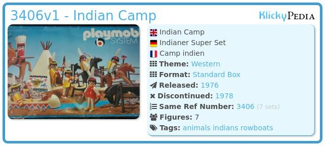 Playmobil 3406v1 - Indian Camp