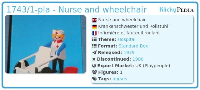 Playmobil 1743/1-pla - Nurse and wheelchair