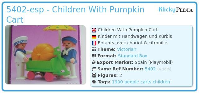 Playmobil 5402-esp - Children With Pumpkin Cart