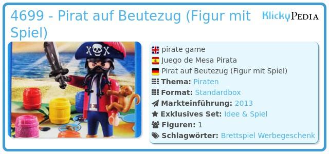 Playmobil 4699 - Pirat auf Beutezug (Figur mit Spiel)