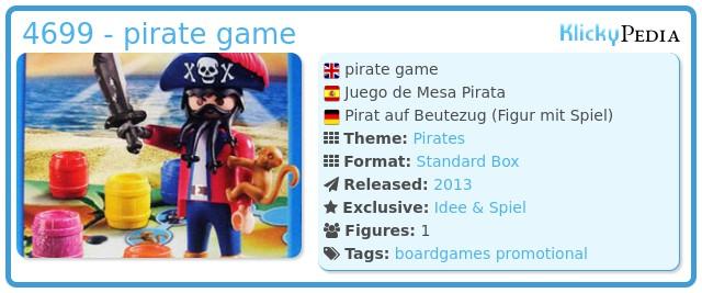 Playmobil 4699 - pirate game