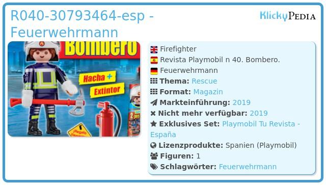 Playmobil R040-30793464 - Firefighter