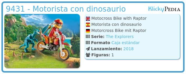 Playmobil 9431 - Motorista con dinosaurio