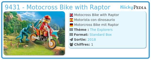 Playmobil 9431 - Motocross Bike with Raptor