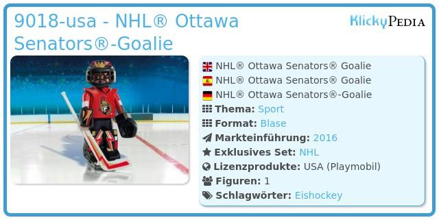 Playmobil 9018-usa - NHL® Ottawa Senators® Goalie