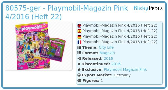 Playmobil 80575-ger - Playmobil Magazin Pink 04/2016 (Heft 22)