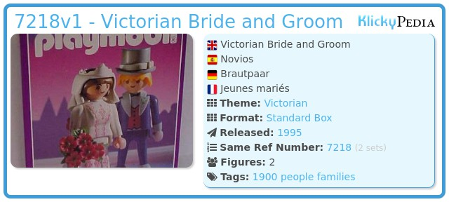 Playmobil 7218 - Victorian Bride and Groom