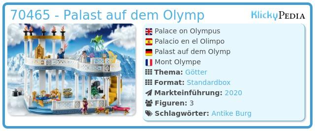 Playmobil 70465 - Palast auf dem Olymp