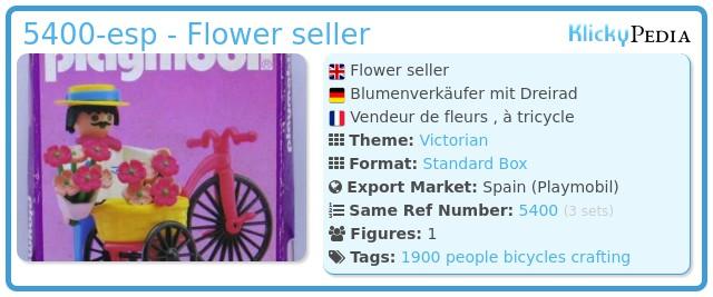 Playmobil 5400-esp - Flower seller